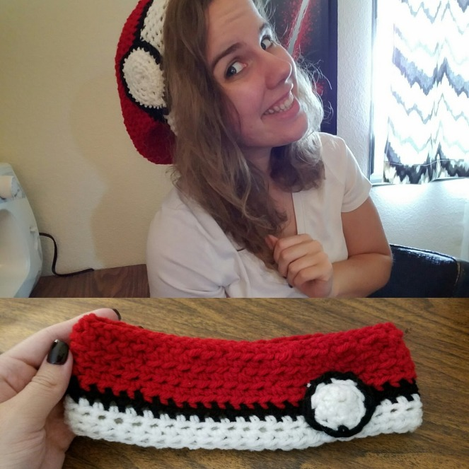 pokemon crocheted hat and headband