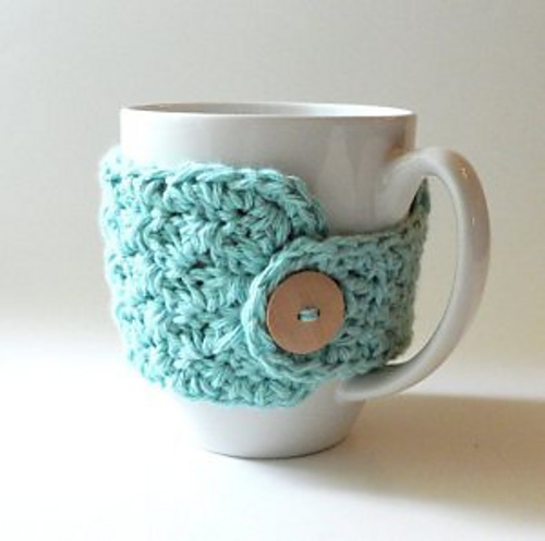 crochet coffee mug cozy pattern
