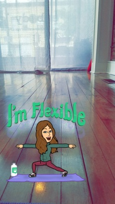 yoga studio with bitmoji